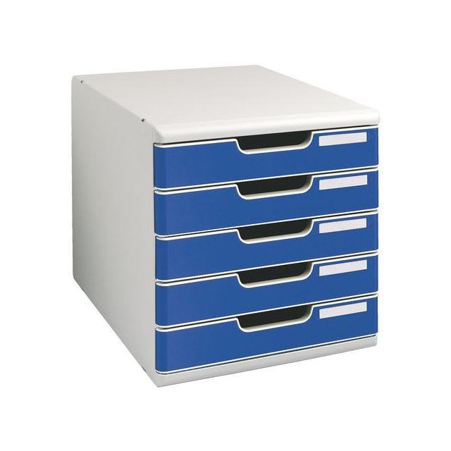 4016461686a94 Exacompta - Module de classement Modulo 5 tiroirs bleu - pas cher ...