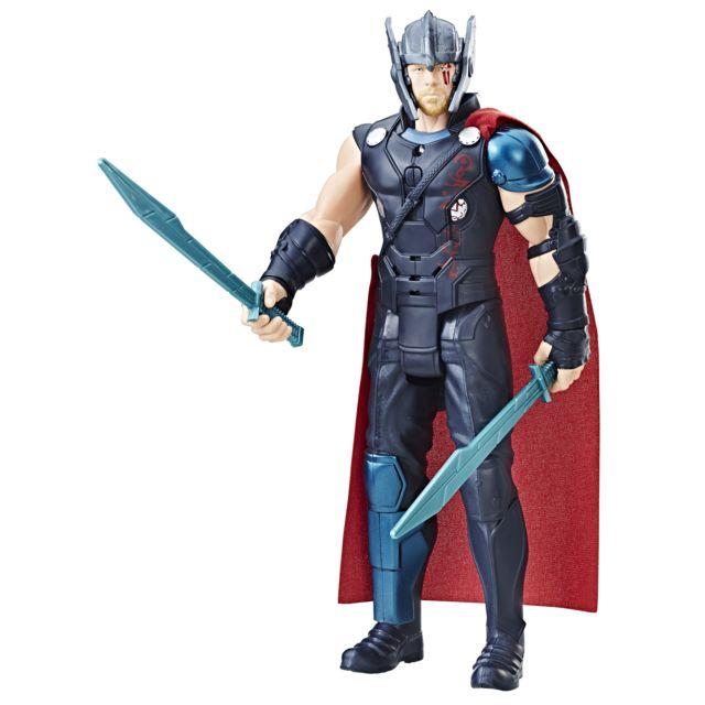 MARVEL AVENGERS THOR RAGNAROK - Figirune Thor - B99701010 Rejoue les scènes mythiques du film grâce à la figurine électronique de Thor qui peut ainsi répondre à Hulk.