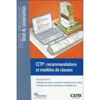 Cstb - Cctp : recommandations et modèles de clauses