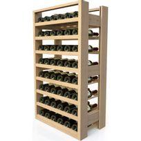 Visiorack - Meuble de rangement en bois pour 48 bouteilles - Hêtre Naturel Aci-vis303