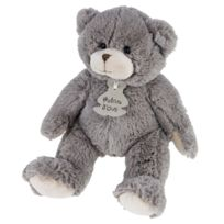 Histoire D'OURS - Peluche Calin'ours taupe 25 cm