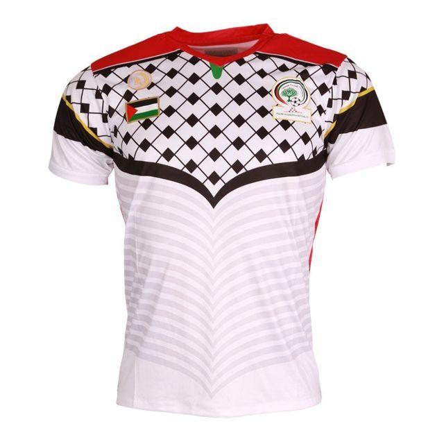 divers marques maillot de foot palestine cz228 blanc pas cher achat vente tee shirt homme. Black Bedroom Furniture Sets. Home Design Ideas