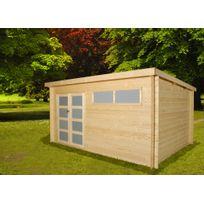 gardenas anvers xxl chalet moderne en bois 1411 m 28mm - Abri Jardin Toit Plat