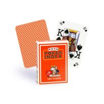 Modiano - Cartes Poker Index 100% plastique orange