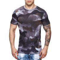 Marque Generique - Tee-shirt mili homme Tee shirt 708 noir