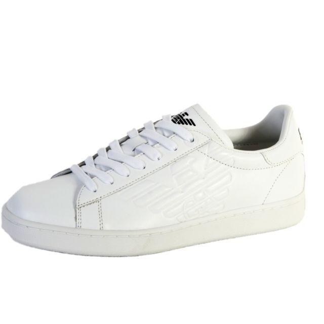 2cb1d4a724bc Armani - Baskets Ea7 New Classic 278049 Cc299 00010 White - pas cher Achat    Vente Baskets homme - RueDuCommerce