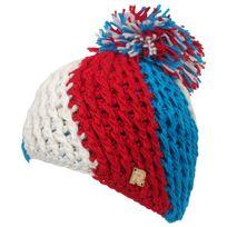 Herman - Bonnet à pompon Ice tricolor bleu/blc/rge Blanc 26504