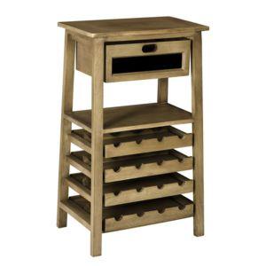 Comptoir de famille meuble porte bouteille en bois et for Meuble porte bouteille vin