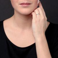 Diamant SixiÈME Sens - Diamant SixieME Sens Alliance Or Blanc 375 et Diamants Femme