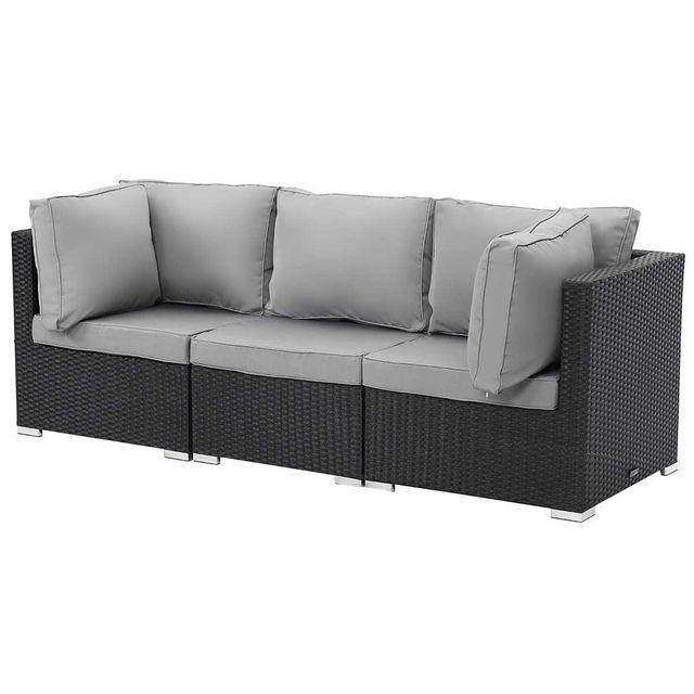 habitat et jardin salon jardin modulable ibiza atlanta noir nc pas cher achat vente. Black Bedroom Furniture Sets. Home Design Ideas