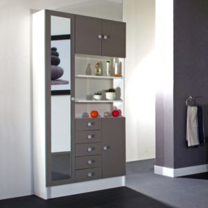 marque generique armoire avec miroir 4 portes 5 tiroirs. Black Bedroom Furniture Sets. Home Design Ideas