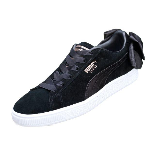 Puma Suede Bow Wns 367317 04 Black pas cher Achat