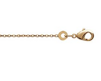 Collection Zanzybar - Chaîne pour homme et femme en plaqué or pour pendentif maille Forçat Diamantée nombreuses tailles. Taille - 18