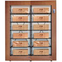 L'ATELIER Du Vin - Bibliothèque Intelligente pour 12 caisses de vin - Bois et Noir Aci-adv912x2