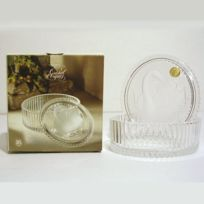 Arc - Coffret ovale couvercle Cygne 12 cm cristal