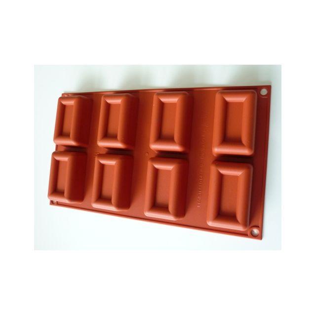 Guery Moule silicone forme lingot 8 empreintes