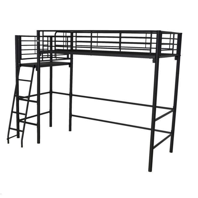 lit mezzanine 1 place pas cher trainingsstalmaikewiebelitz. Black Bedroom Furniture Sets. Home Design Ideas