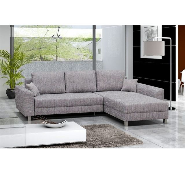 Chloe Decoration - Canapé d angle personnalisable tommy - convertible - Angle  droit - gris aa3f659c3bce