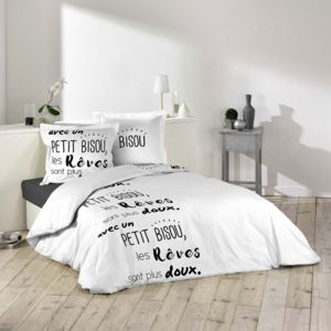 sans marque housse de couette 220 x 240 cm taies doux r ves multicolor 220cm x 240 cm. Black Bedroom Furniture Sets. Home Design Ideas