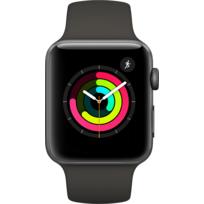 Watch 3 42 - Alu noir / Bracelet Sport gris