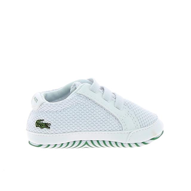 ecef027c7479c Lacoste - Crib 318 Bb Blanc Vert - pas cher Achat   Vente Chaussures ...