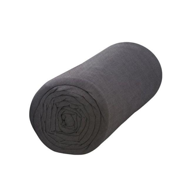 today drap housse canon fusil anthracite 140x190cm gris pas cher achat vente draps housses. Black Bedroom Furniture Sets. Home Design Ideas