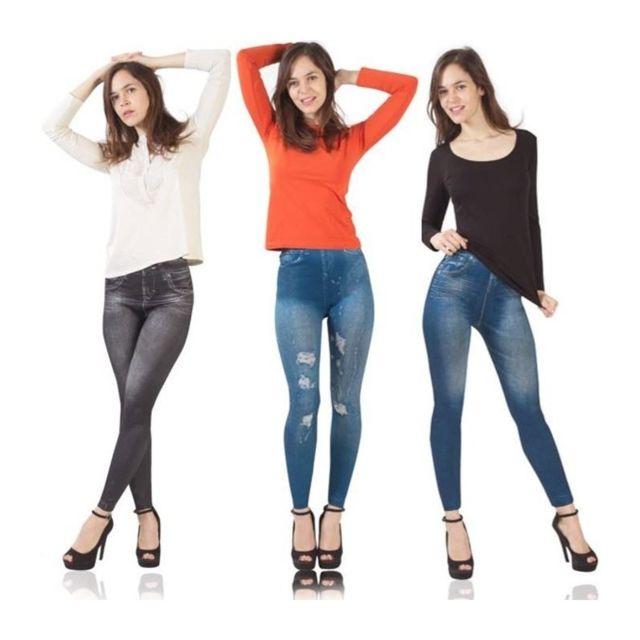X3 LXL Jegging legging IDMARKET lot gainant imitation femme jean qFEw7tCn
