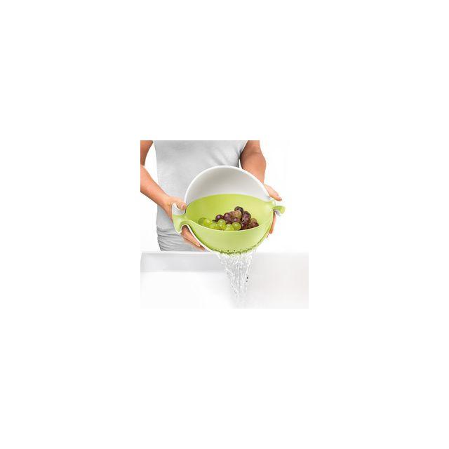 Guzzini Passoire Avec Saladier Intégré My Kitchen - Vert Pomme
