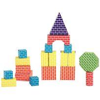 - briques en carton, formes assorties - boite de 45