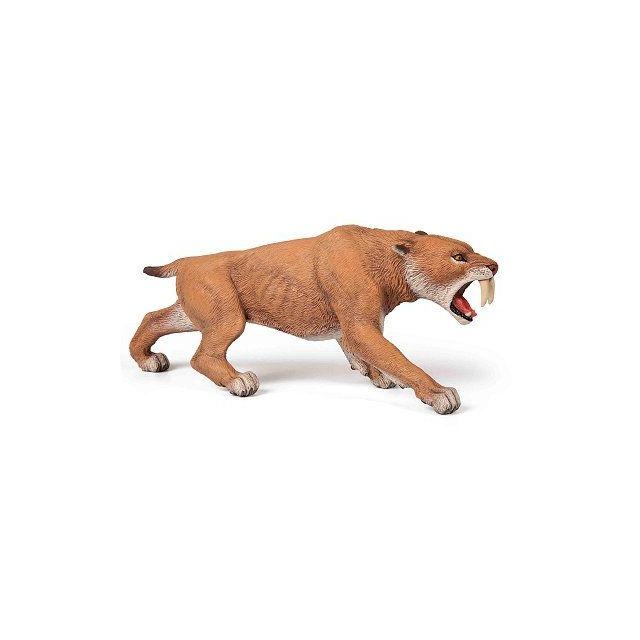 Origine Bullyland PREHISTORIC ANIMAL FIGURINE Smilodon Saber à dents TIGRE RARE