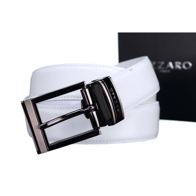 Azzaro - Ab11 Blanc - pas cher Achat   Vente Ceinture homme ... 275b8fa9e05