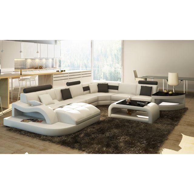 canap dangle design panoramique blanc et noir istanbul - Canape D Angle Grand Format