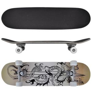Vidaxl - Planche à Roulettes Skateboard 9 Couches Erable Design Dragon 8