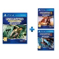 SONY - Uncharted Drake's Fortune - PS4 + Uncharted 2 Among Thieves - PS4 + Uncharted 3 : L'Illusion de Drake - PS4