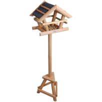 Rocambolesk - Superbe Mangeoire pour oiseaux avec toit bitumé Esschert Design Fb255 neuf