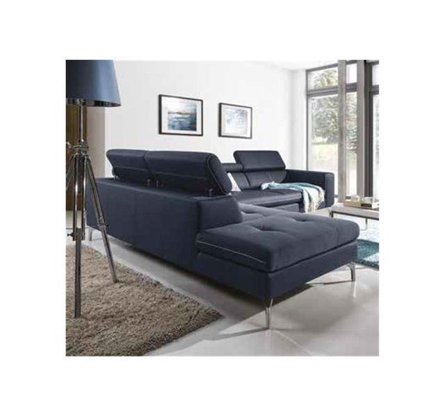 CHLOE DESIGN Canapé d'angle design MYLA - Noir - Angle gauche