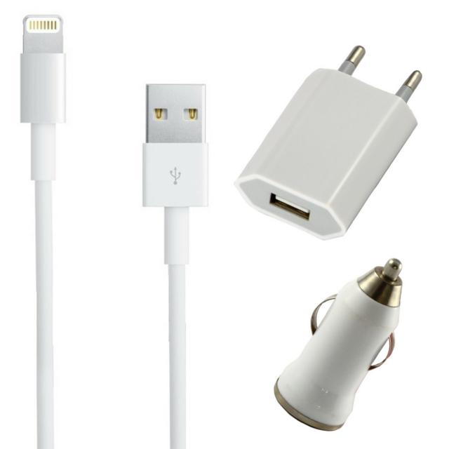 PHONILLICO Pack Chargeur 3en1 Blanc et Rose pour Xiaomi