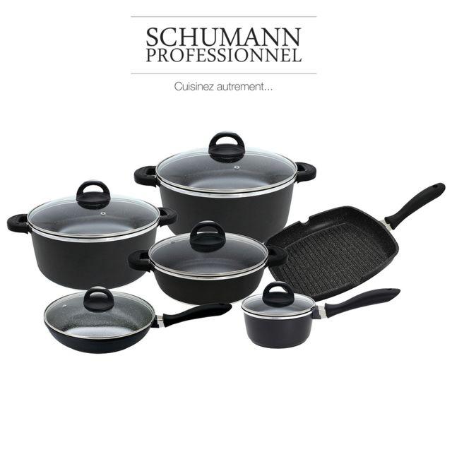 51bd3ac6e218ad Schumann Professionnel - Batterie de cuisine facon pierre schumann 17 pièces