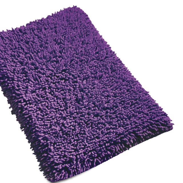 linnea tapis de bain 50x80 cm chenille violet 1800 g m2 80cm x 50cm pas cher achat vente. Black Bedroom Furniture Sets. Home Design Ideas