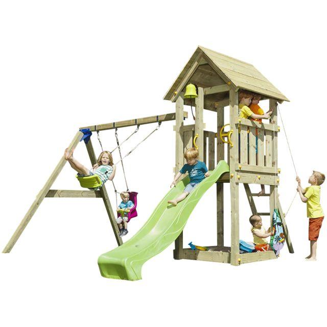 983bf5e830330 BLUE RABBIT - Aire de jeux en bois Kiosk Avec balançoires - pas cher ...