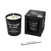 Ebougie - Bougie ardoise personnalisable Figuier 140 g noir