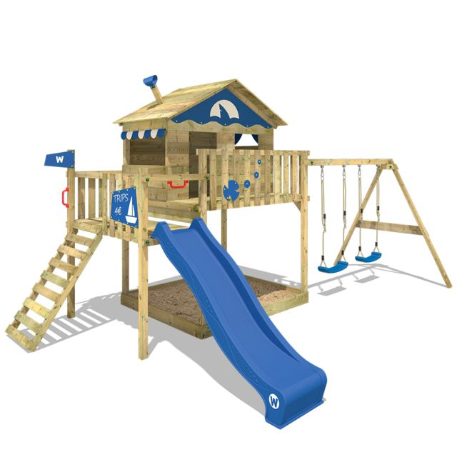 wickey aire de jeux en bois smart coast portique de jeux. Black Bedroom Furniture Sets. Home Design Ideas