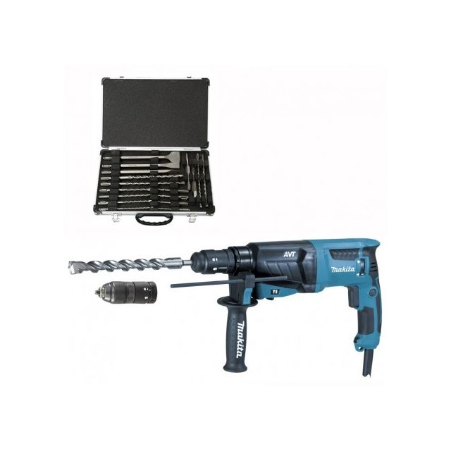 Makita HR2631FT12 SDS Plus Perforateur burineur AVT avec mandrin 800 W
