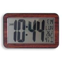 Orium - Horloge Rc digitale 9.5cm Bois