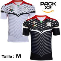60f9cc4e92d No Brand - Pack x2 Maillot football Palestine noir - rouge - or 2 maillots -
