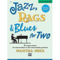 Alfred Publishing - Partitions Jazz&blues Mier Martha - Jazz, Rags And Blues For Two Book 3 - Piano Duet Piano