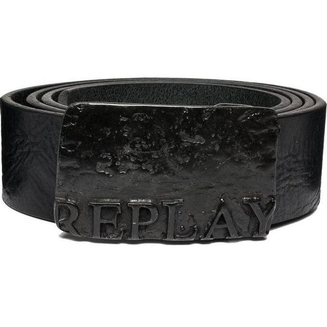 Replay - Ceinture Cuir Boucle Plaque - pas cher Achat   Vente Ceinture  homme - RueDuCommerce 4b33f6abe57