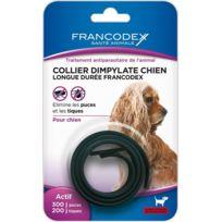 Francodex - Collier Dimpylate Chien Longue Duree Couleur Noir