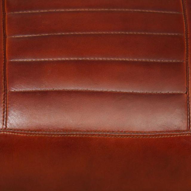 Icaverne Fauteuils club, fauteuils inclinables et chauffeuses lits famille Fauteuil de salon en cuir véritable Marron