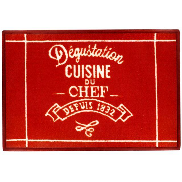 Exceptionnel Promobo   Tapis De Cuisine Evier Déco Bistrot Vintage Kitchen Restaurant  Rouge